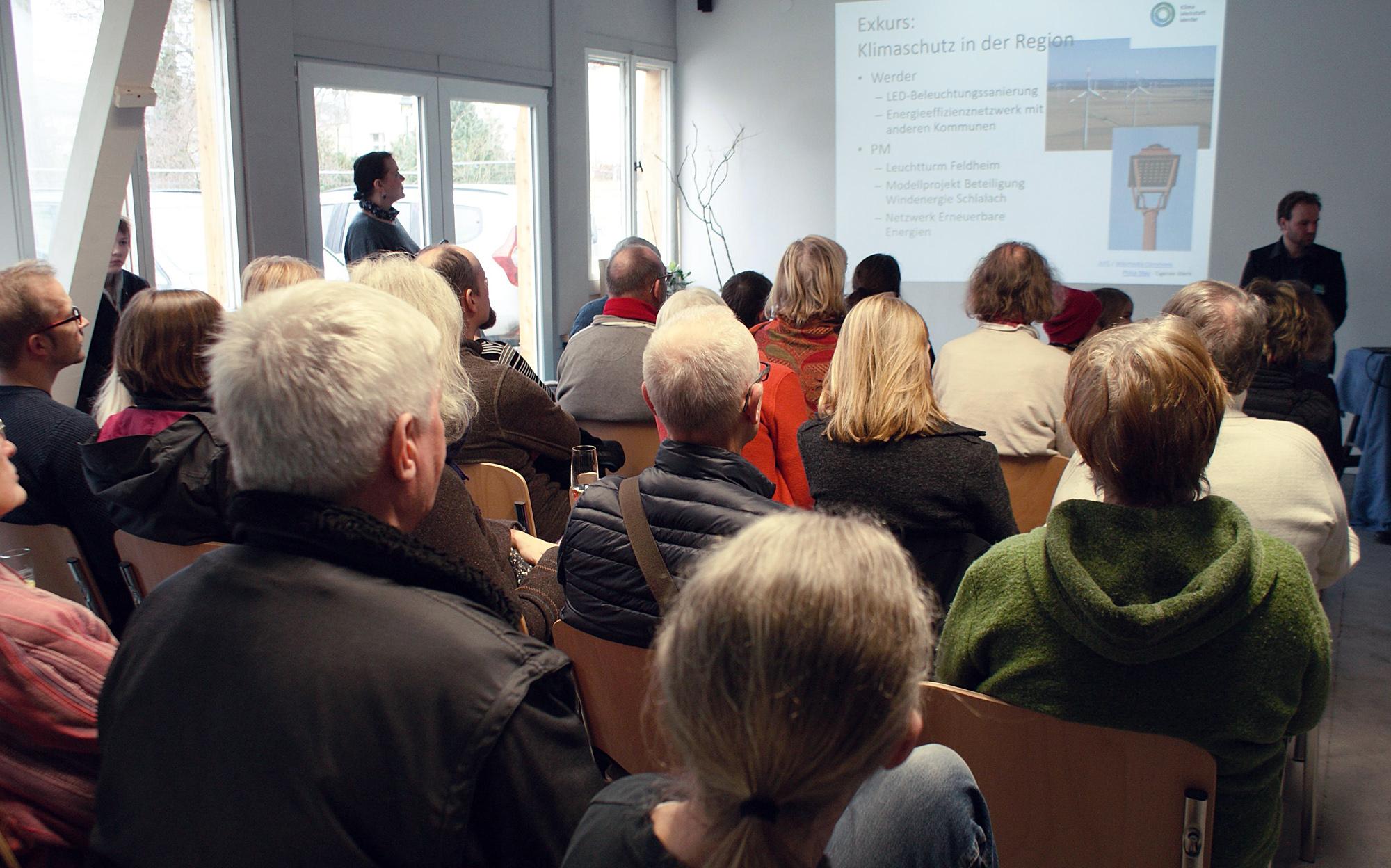 Eröffnungsfeier der Klimawerkstatt Werder