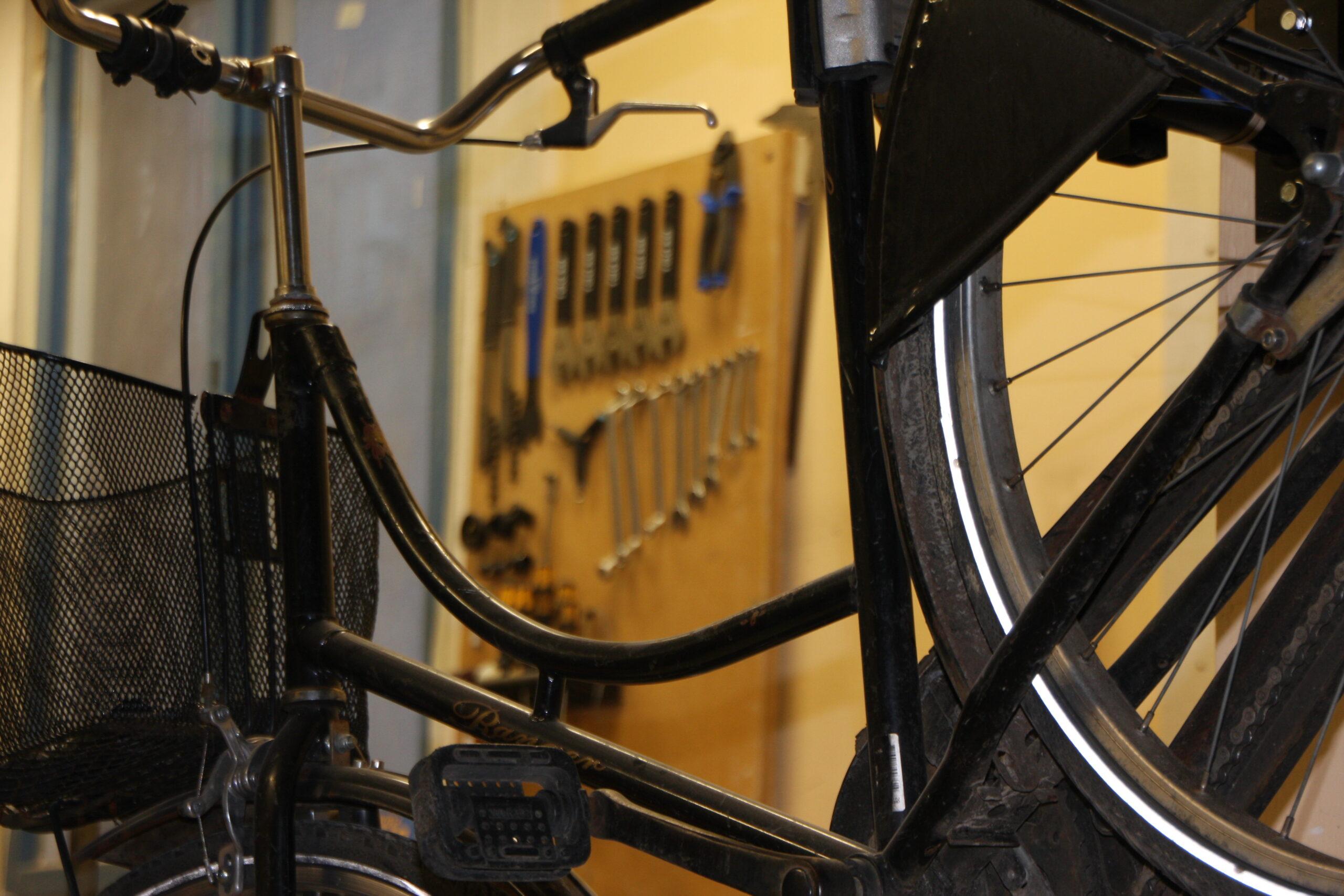 Blick in die Fahrradwerkstatt