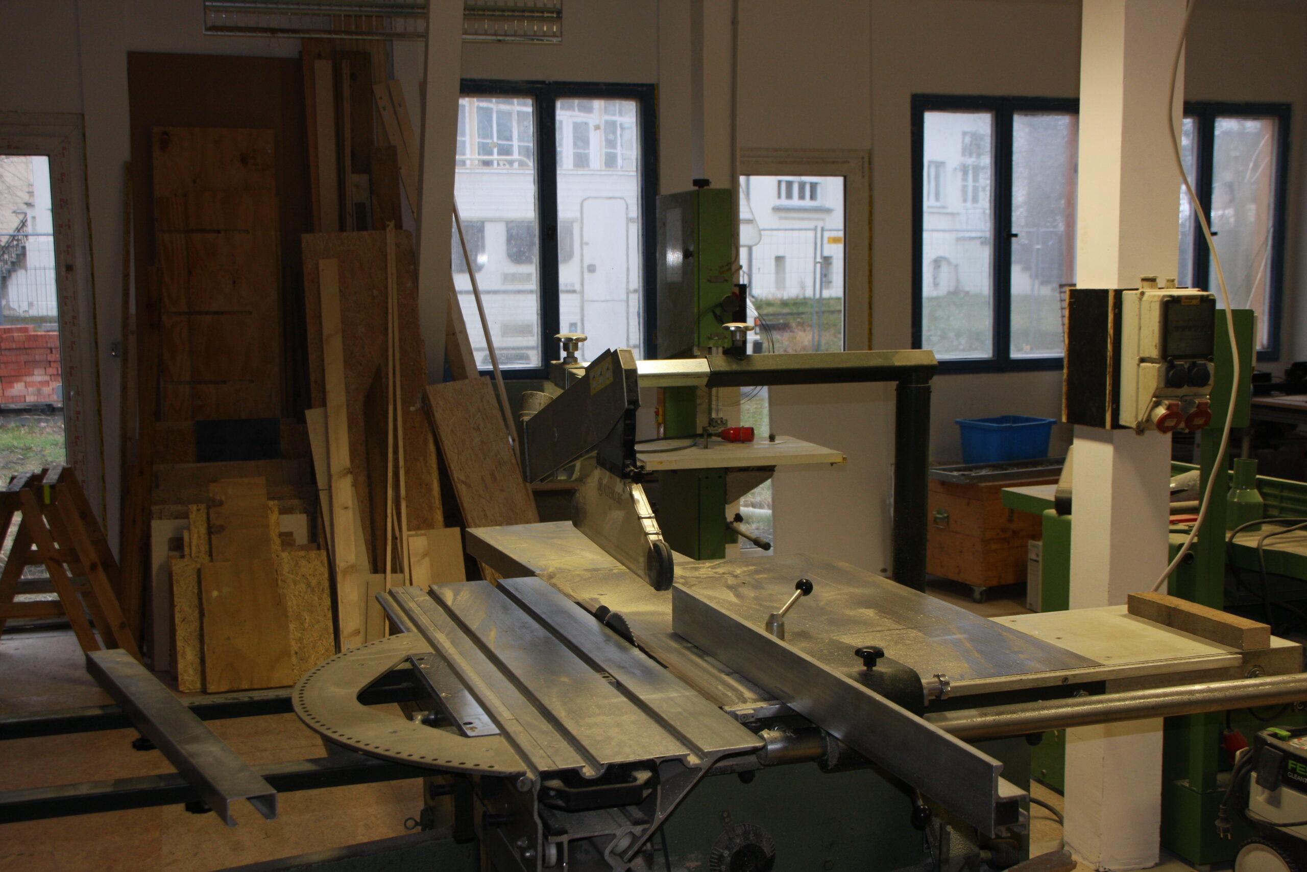 Blick in die Holzwerkstatt